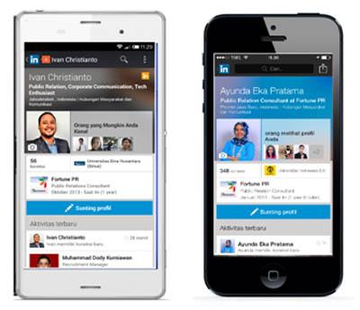 LinkedIn Mobile Kini Tampil Lebih Segar dan Support BahasaIndonesia